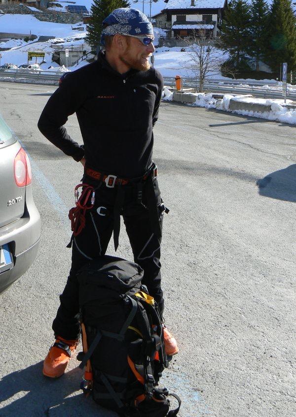 In partenza dal parcheggio di Gressoney-Staffal