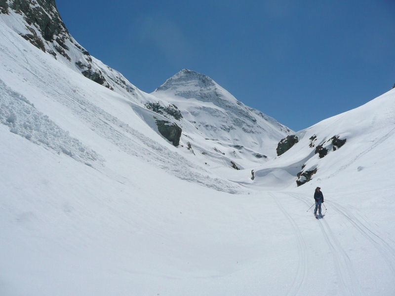 Fin de descente dans le vallon de la Lombarde.