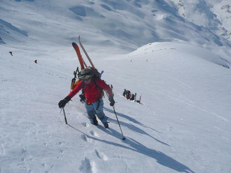 Passage à pied vers 3400 m