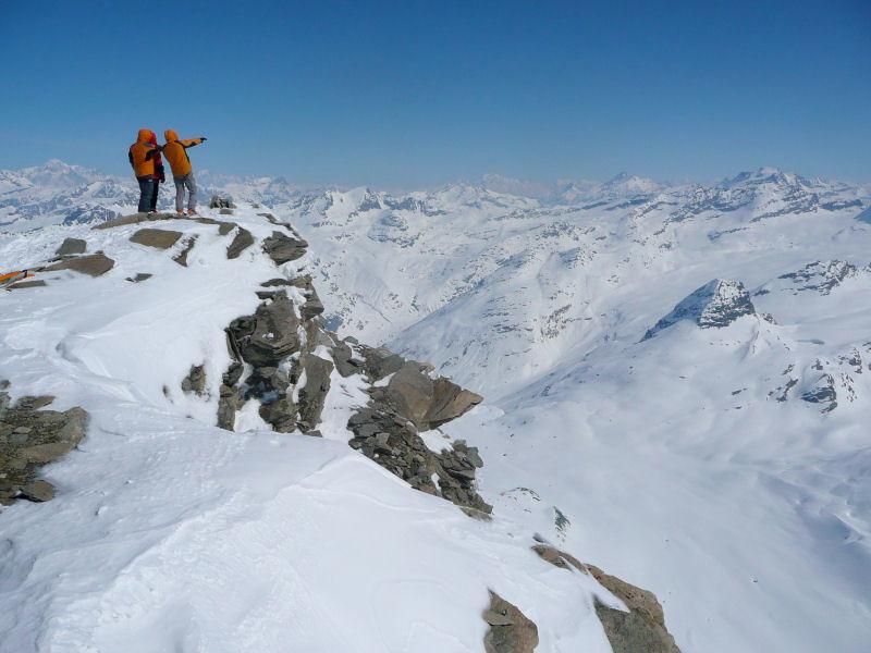 Sommet de l'Albaron, vers le Mont Blanc