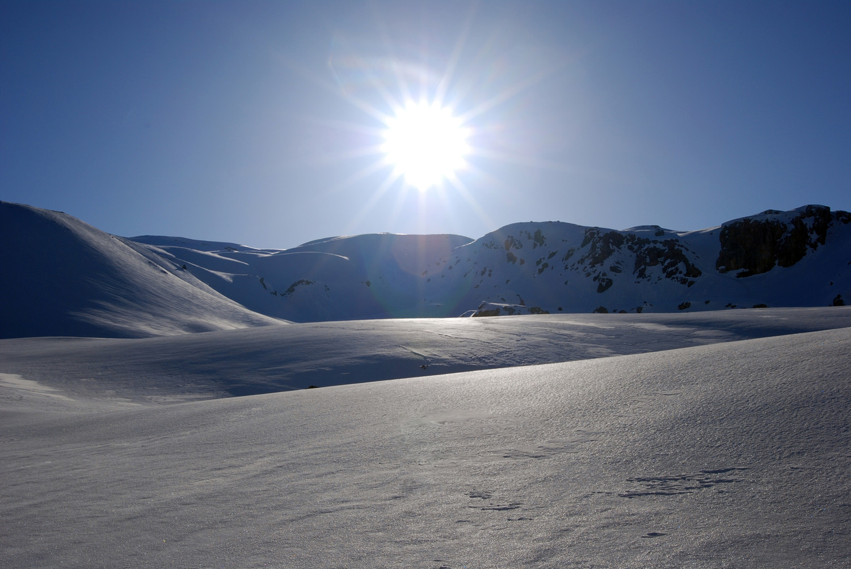 Controluce in Valle Forcola  verso la  quota 2822 m