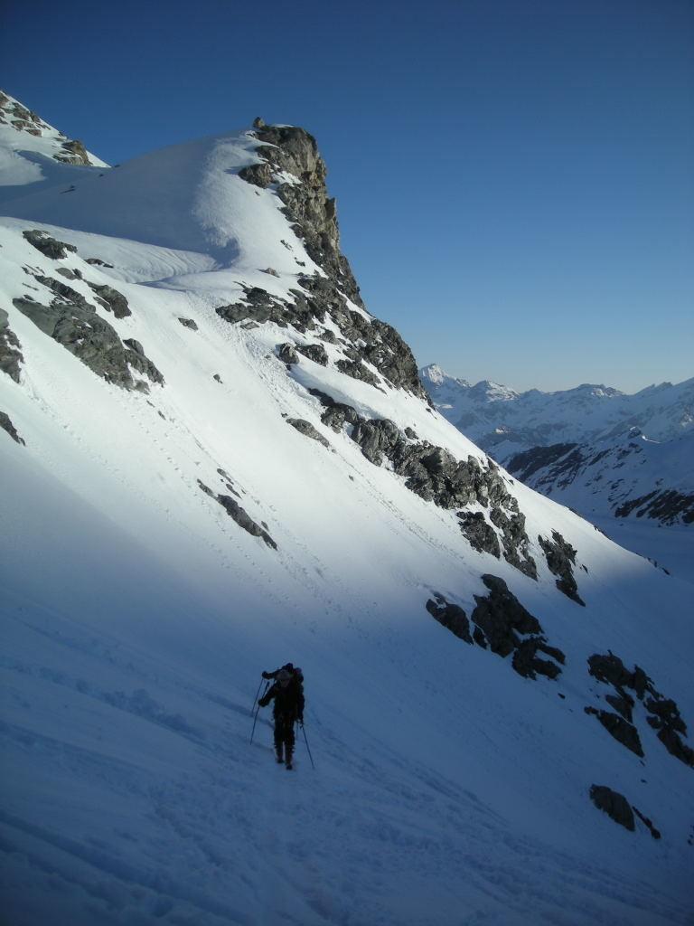 Montée en direction du glacier de Corbassière