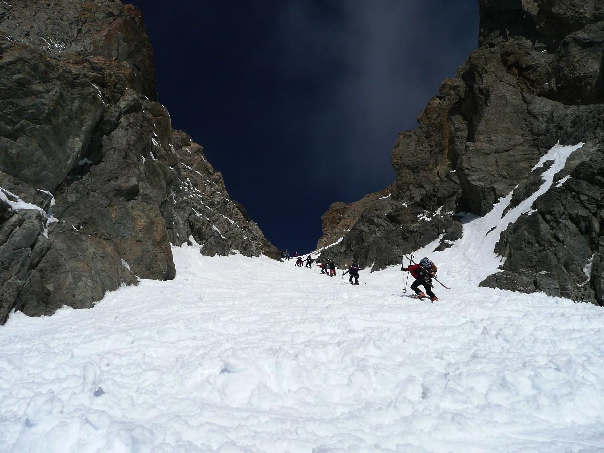 Montée au Col de la Casse Déserte versant ESE