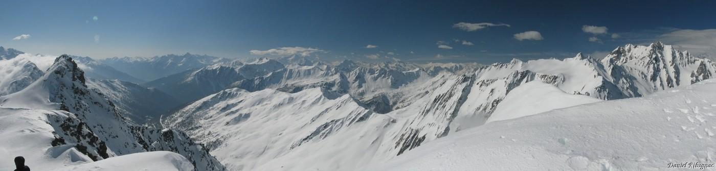 Depuis le Mont Fourchon : panorama sur l'Italie