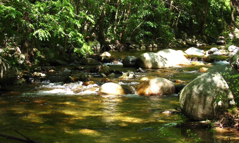 Ruisseau : moment de détente après l'escalade