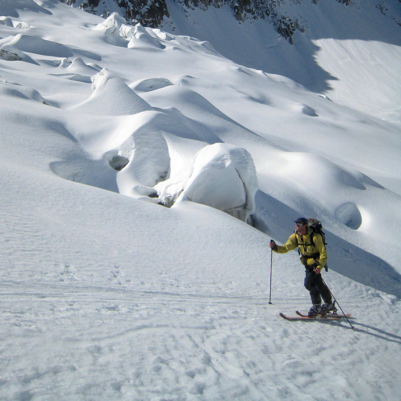 Jean sur le glacier des Périades