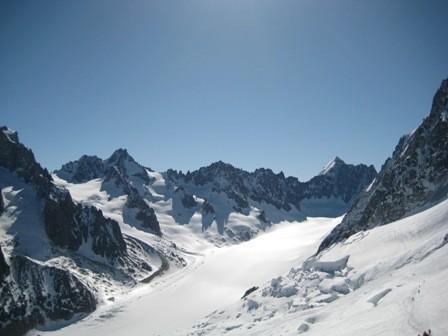 le Bassin d'Argentière sans nuages ni personne