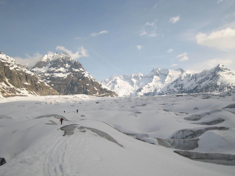Traversée du glacier d'Aletsch