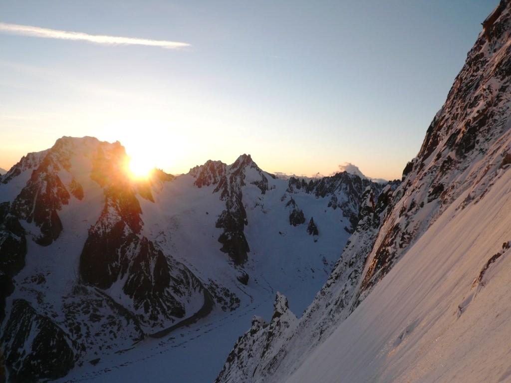 Lever de soleil à côté de l'Aiguille d'Argentière