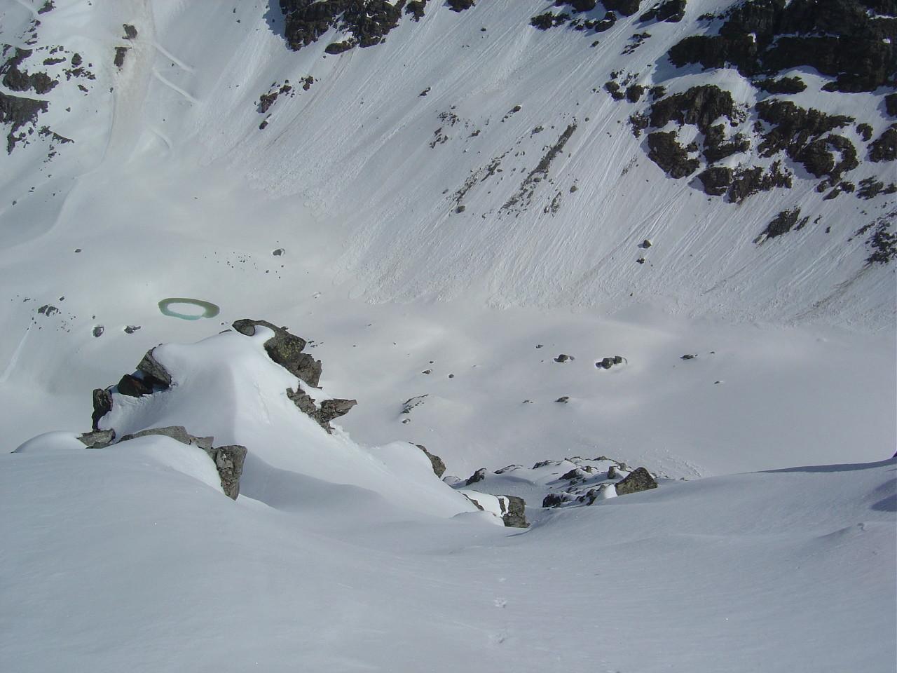 La large pente au départ du sommet