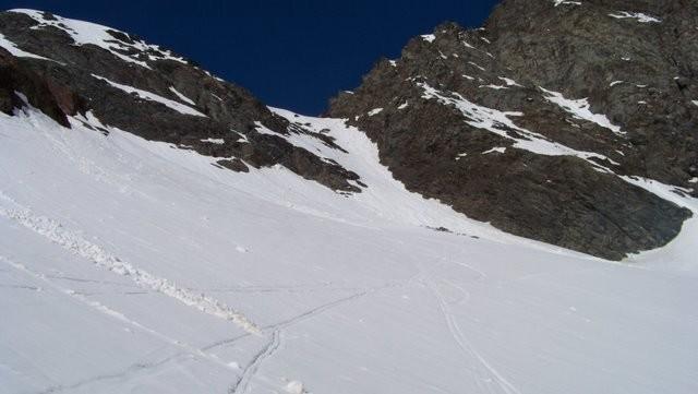 la remontée au Grand Col