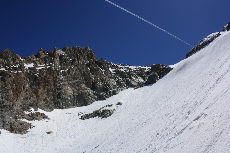 Le Col de l'Encoula de Petit Pierre et son glacier