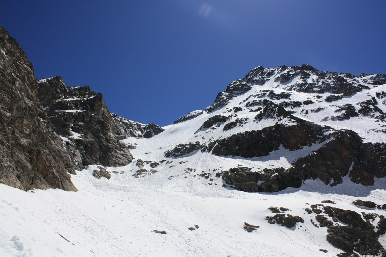 Le Col de l'Encoula de Petit Pierre et la Cime de Clot Chatel, depuis 3100m environ