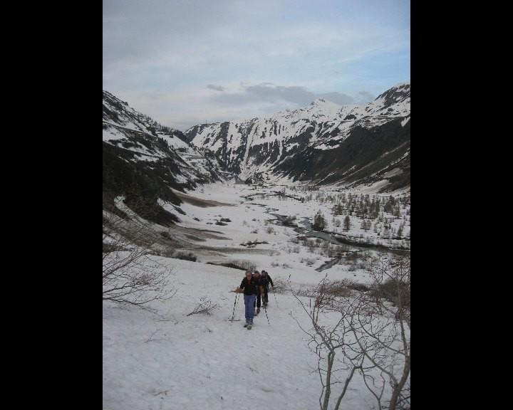 Plaine alluviale du glacier du Rhône