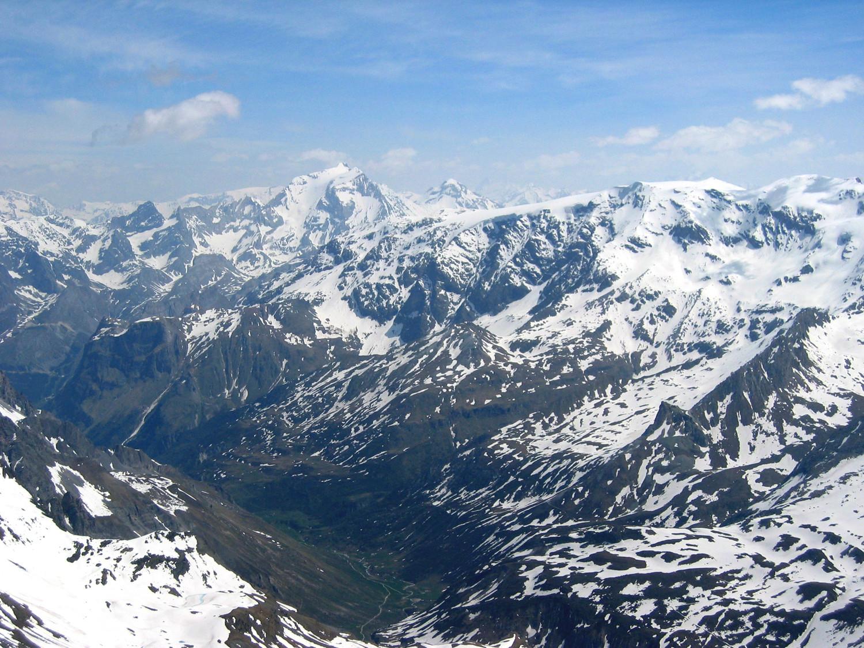 Vallée de Pralognan et gde casse, depuis l'aiguille de Peclet