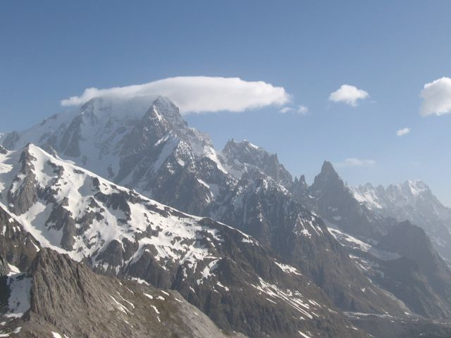 Mont-Blanc et Noire de Peuterey