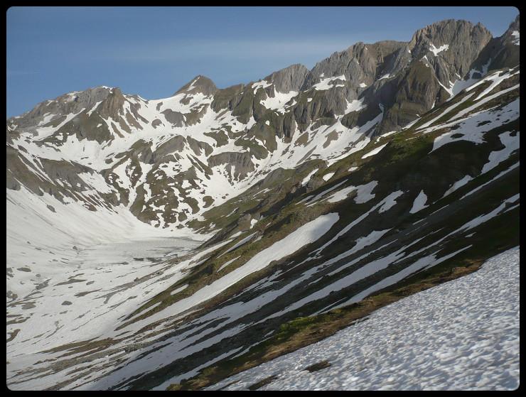Lac de la Vogealle et une partie des Dents Blanches Occidentales