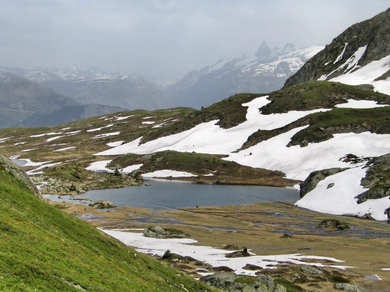 le lac de l'agneau de la crête du lac Fourchu