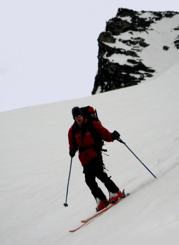 La neige meuble n'est pas déplaisante à skier