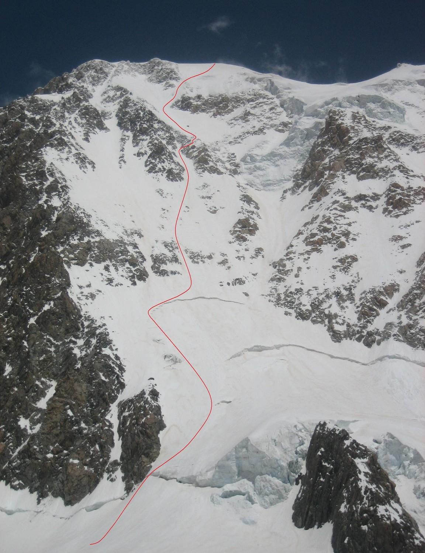 Mont Blanc, west face direct
