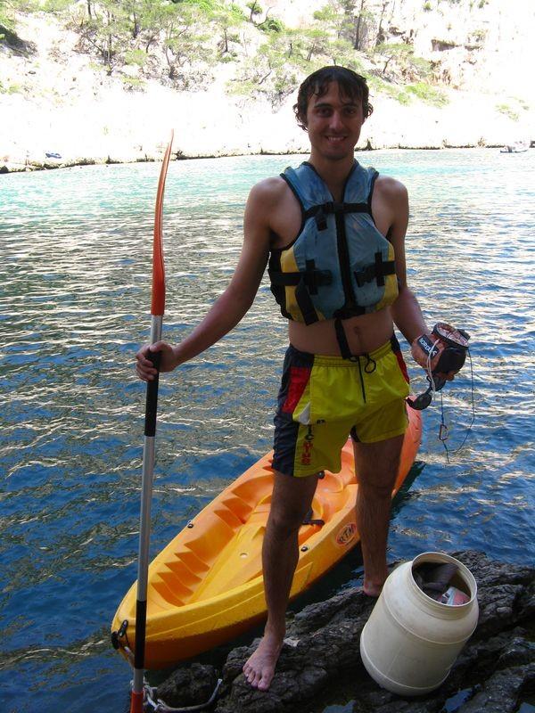Mission accomplie, on retourne sur Cassis en Kayak