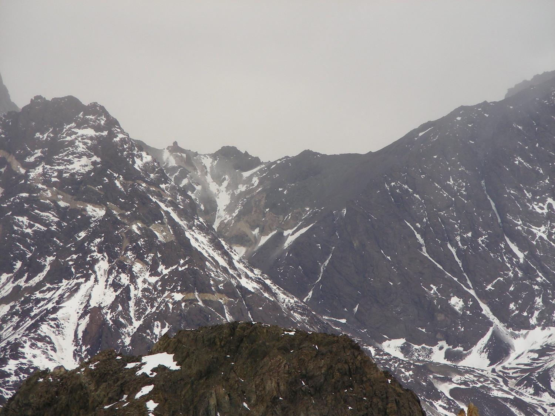 Le col entre le Cerro México et le Tolosa, vu du NNW