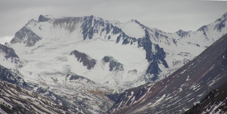 Zoom a la cara S del Nevado del Cuevas