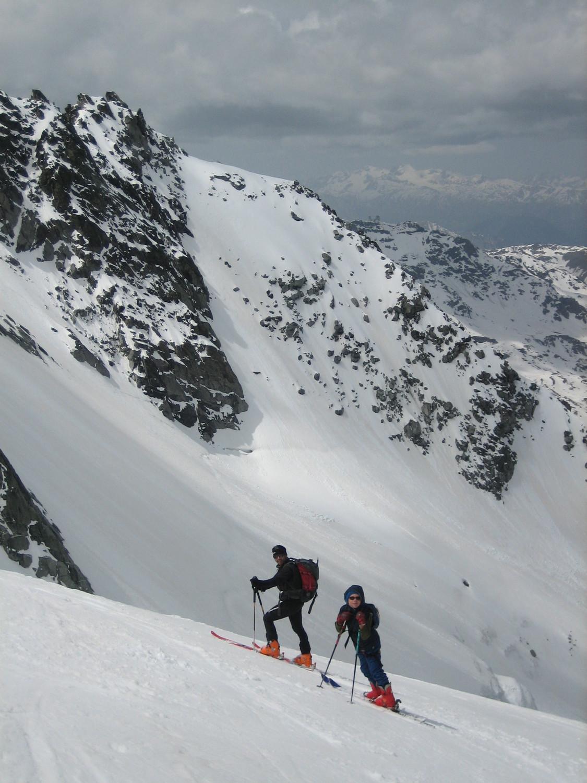 Durant la descente du Glacier de Peclet