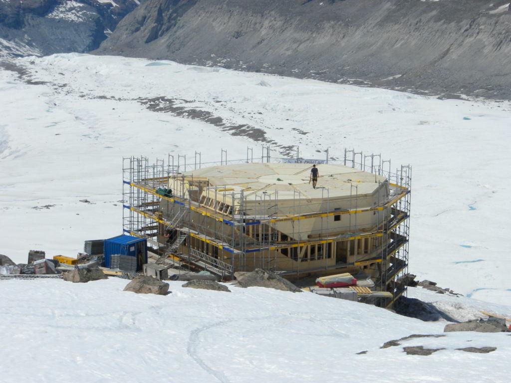 La nouvelle cabane Monte Rosa pour 2010