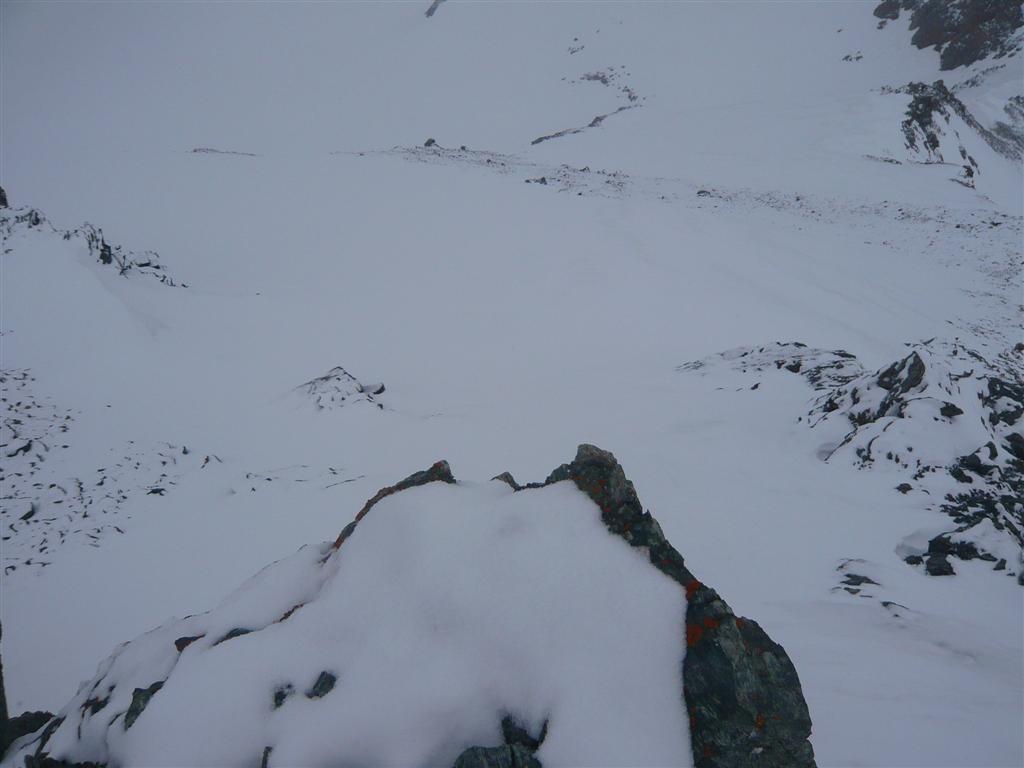 2 H plus tard le lot de consolation : la face W de la pointe Tonini vue depuis le sommet