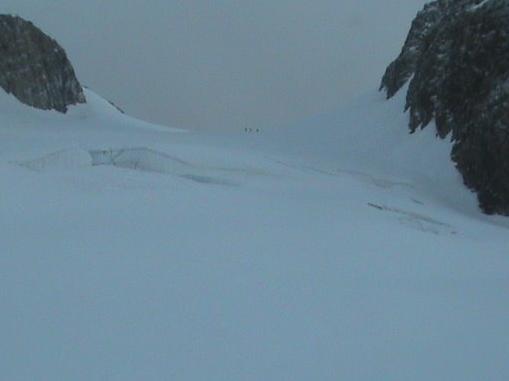 altitude 3200m - crevasses sous le col des Dômes