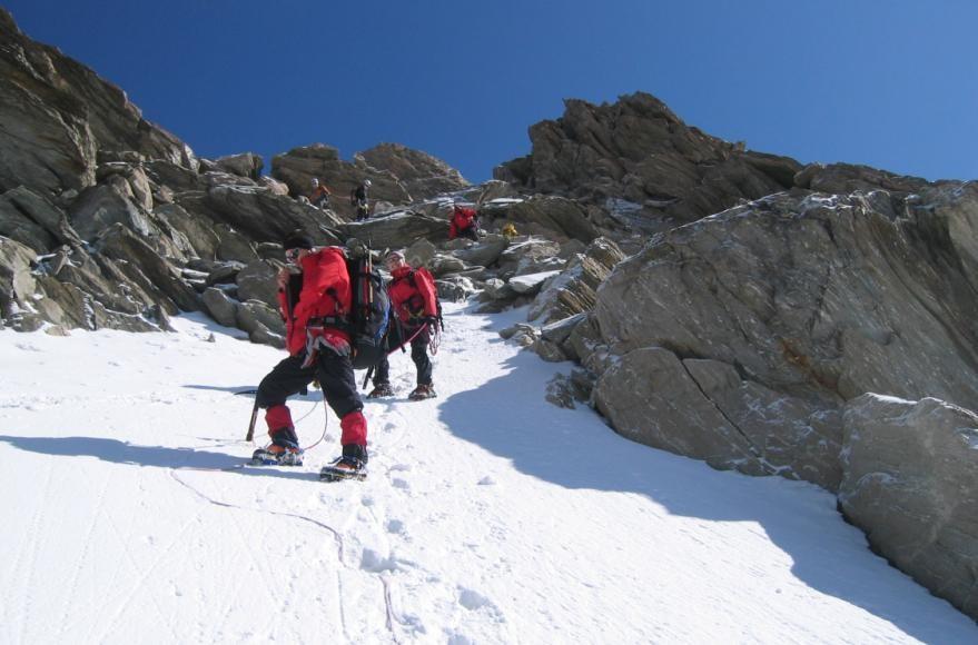 descente depuis la Bérengère(3425m) vers les Conscrits (2600m)