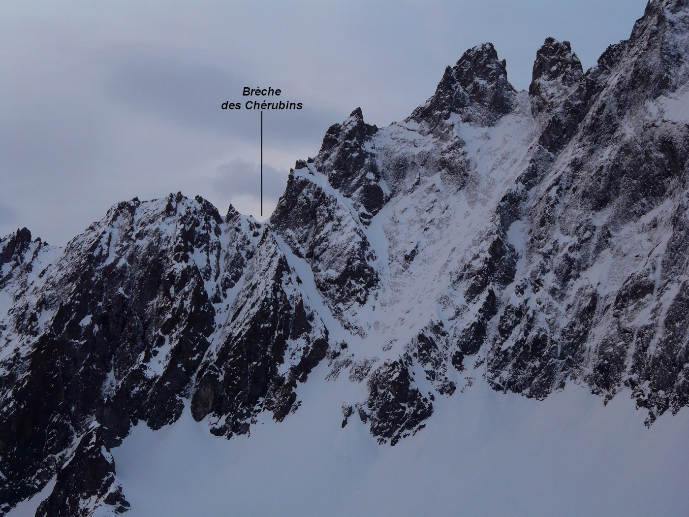 Brèche des Chérubins - versant NW