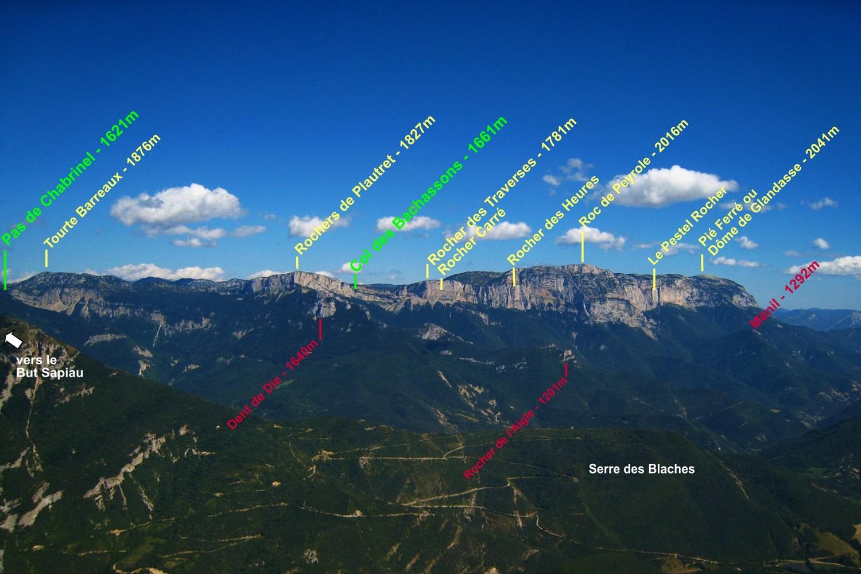 La Montagne de Glandasse, de Chabrinel au Pié Ferré
