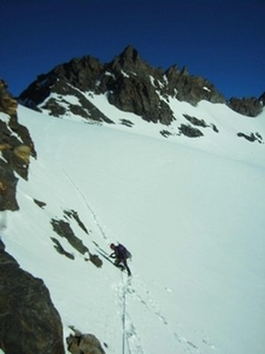 glacier de la Mahure depuis le col de Labby