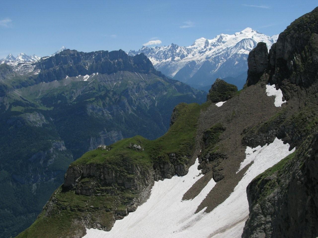Mont-Blanc depuis le haut de la cuvette supérieure