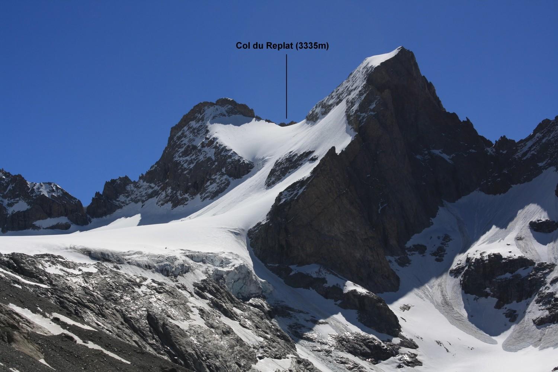 Le Col du Replat, versant NW