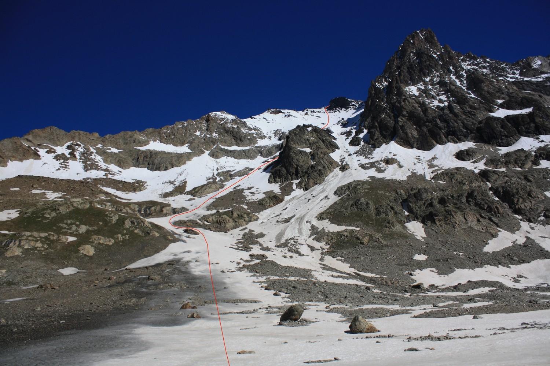 Le versant S des Col et Dôme de la Lauze