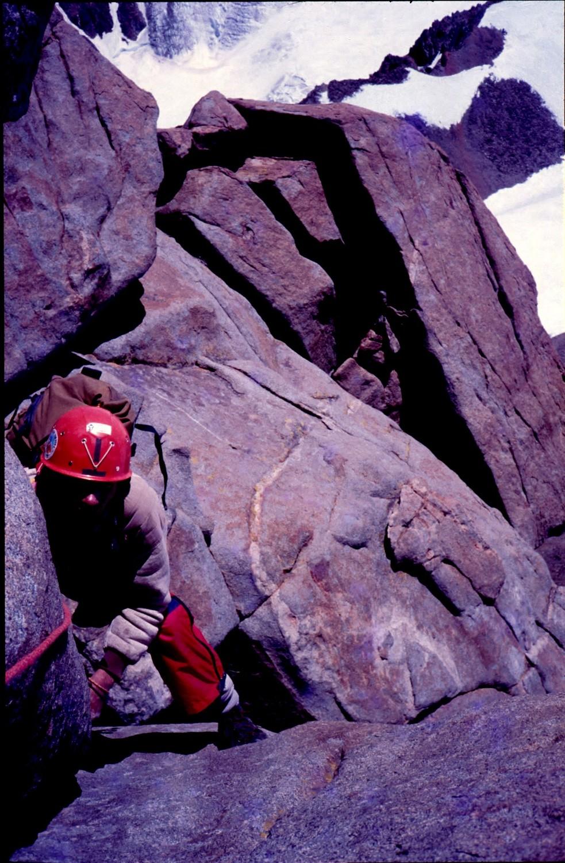 Imagen de la ascension de enero del 1987 (foto Jorge Tarditti)