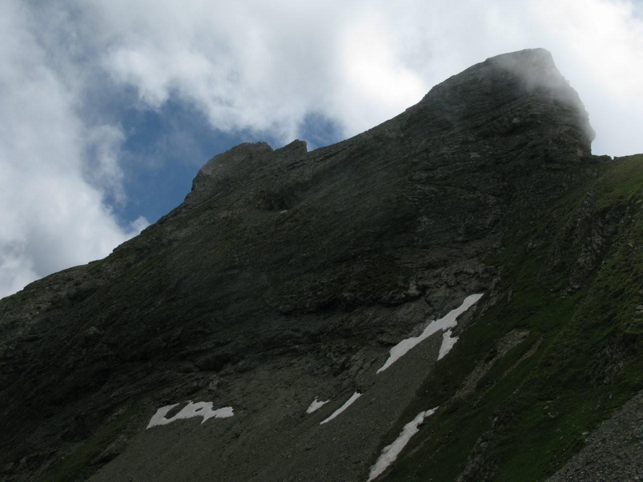 Le sommet de Six Tremble par son versant NE parcouru