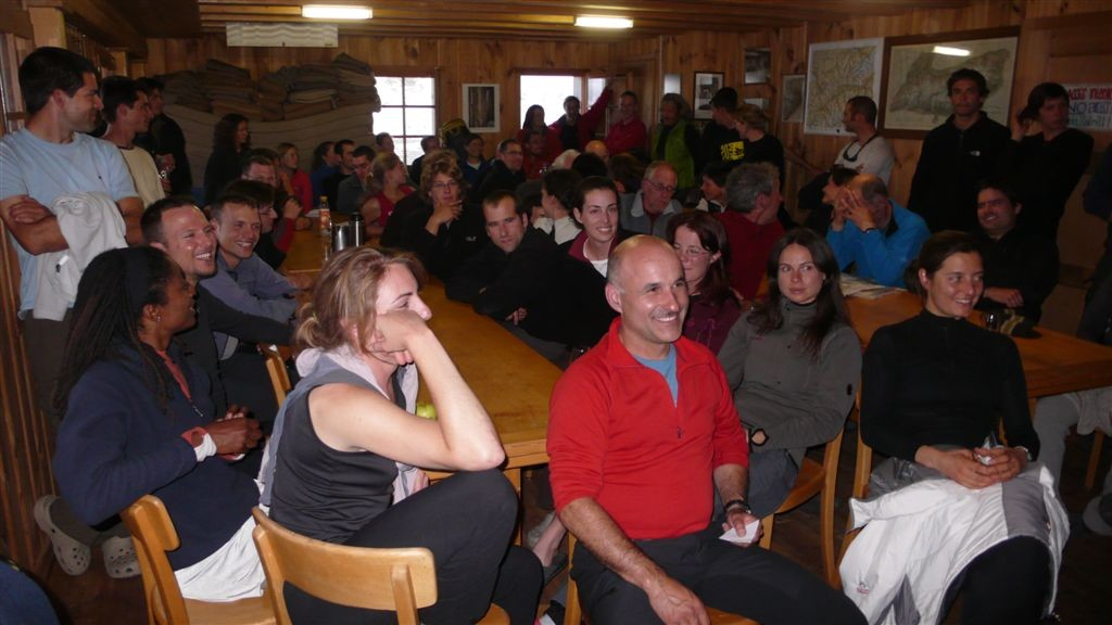 Le cours d'alpinisme et ses 52 participants