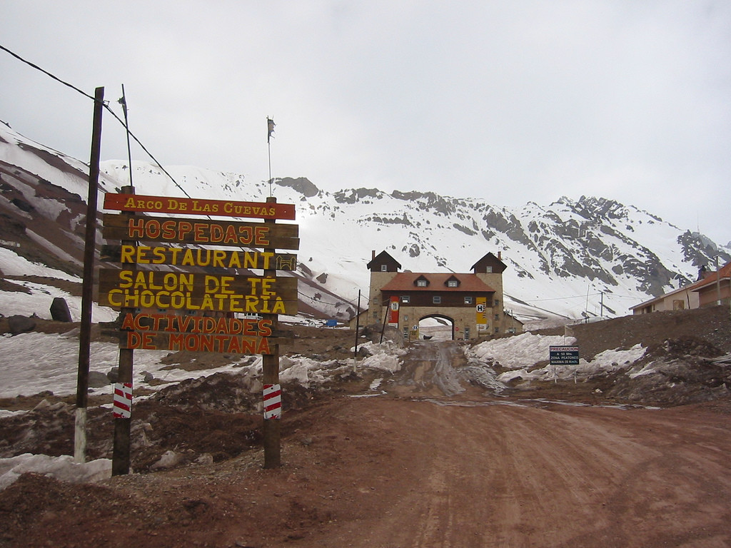 El Arco de Las Cuevas (Mendoza, Argentina)