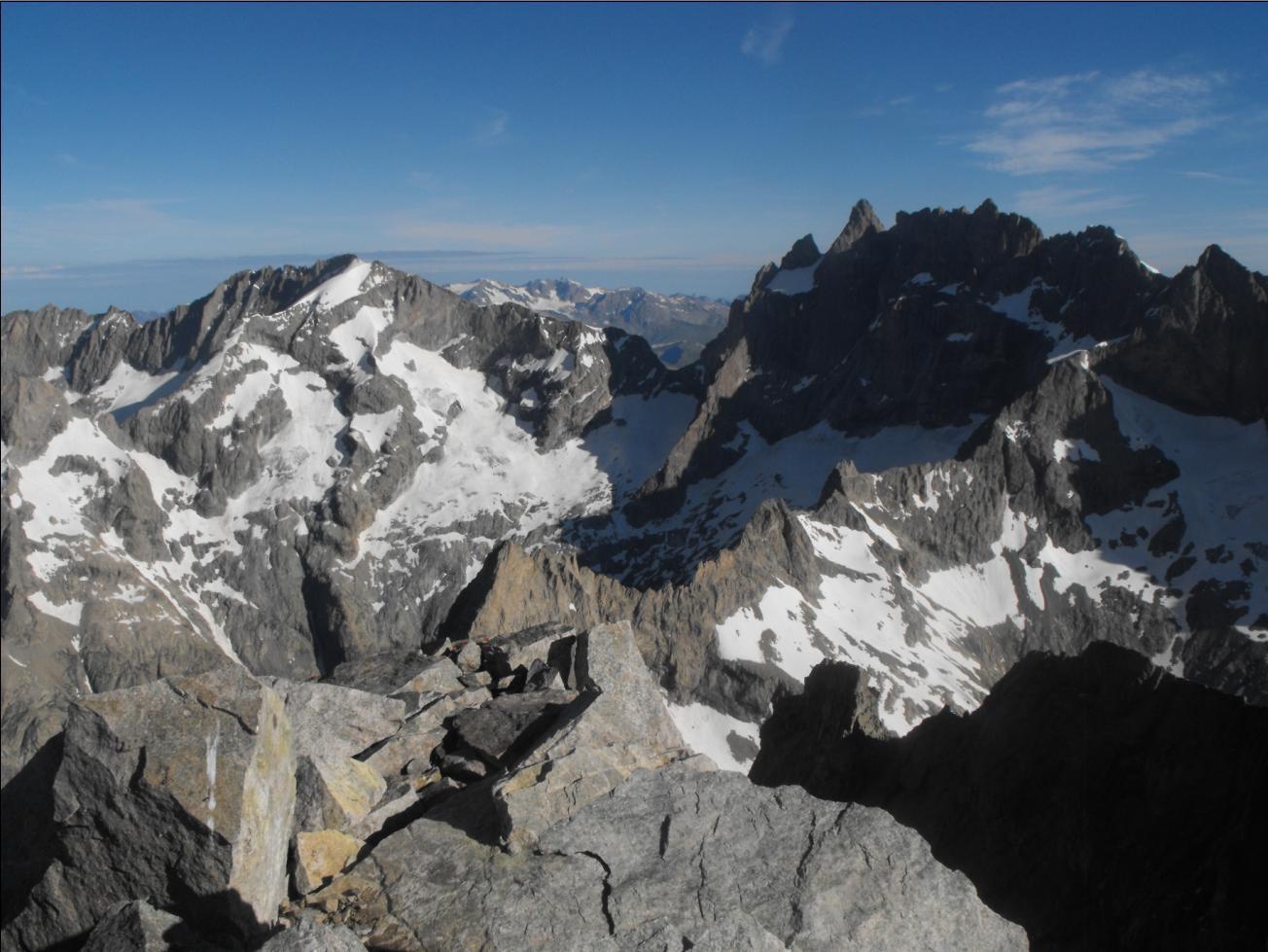 Rateau - Meije depuis le sommet