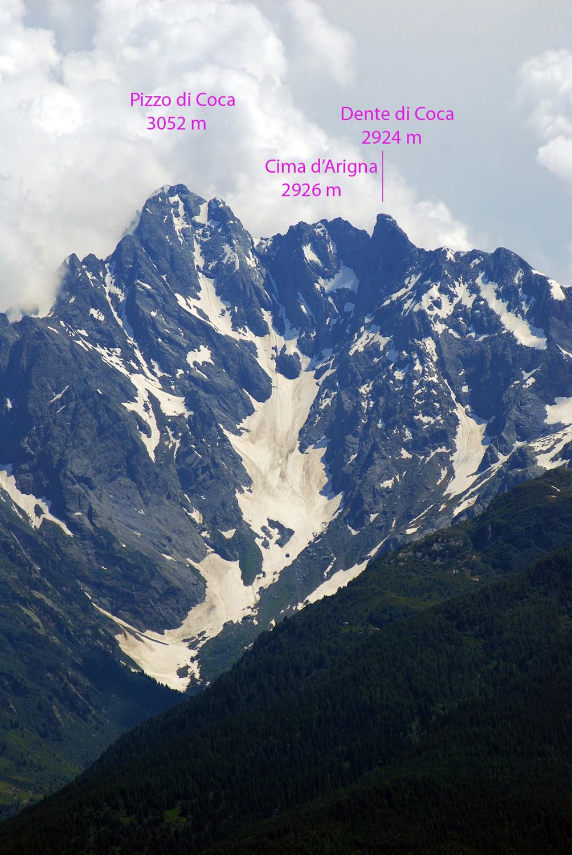La Val d'Arigna vista dall'Alpe Mara 2000 m circa.