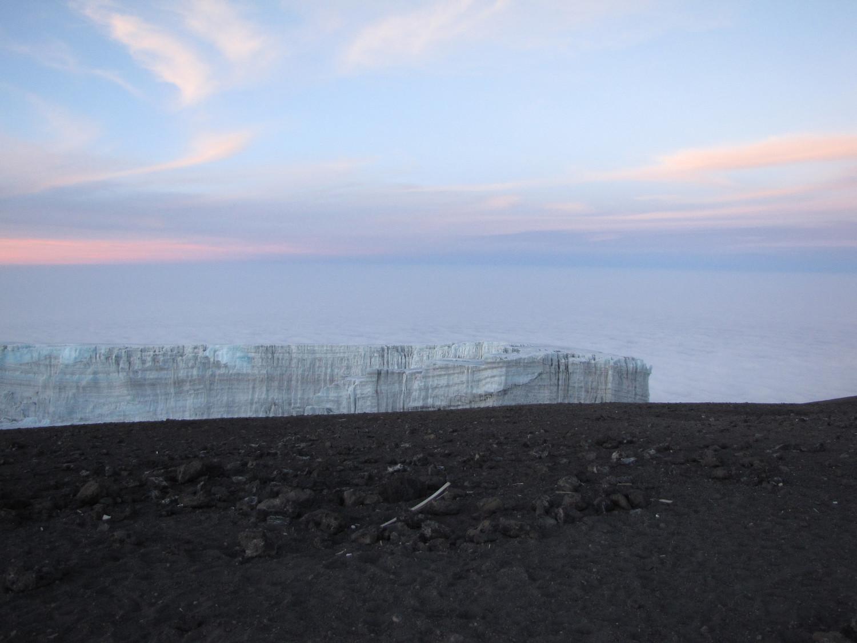 Les glaces du Southern Icefield depuis le sommet