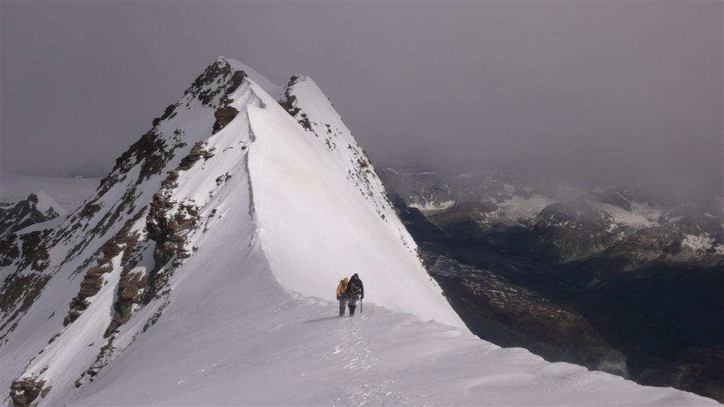Liskamm, le sommet W au fond