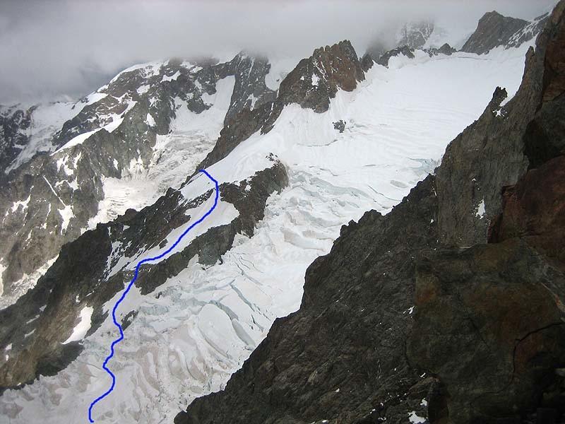 L'attraversamento del ghiacciaio del Bianco