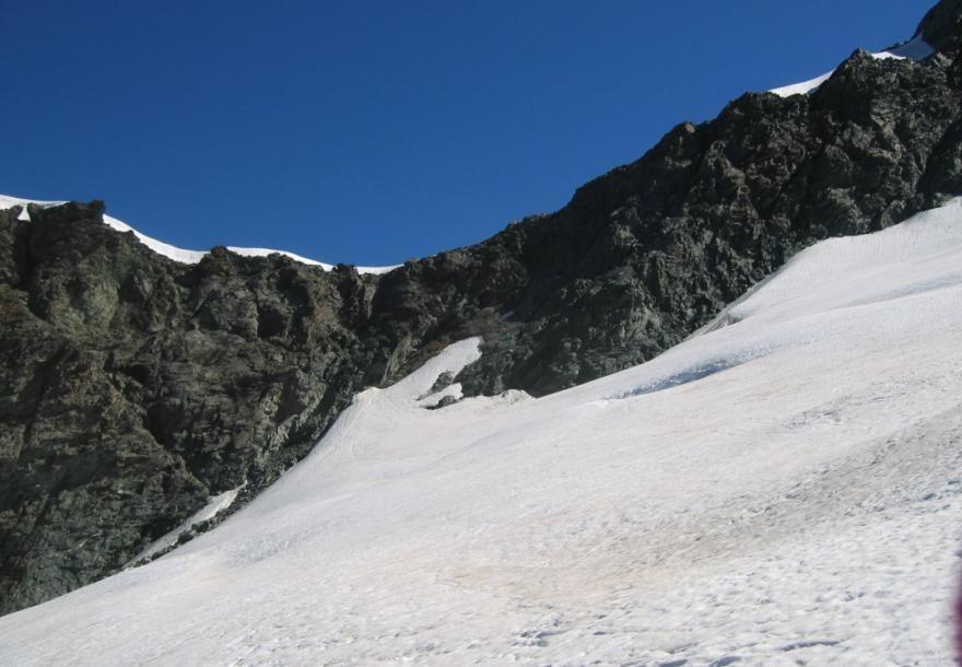 le passage rocheux- col des Roches(3443m)