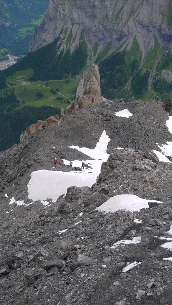 Au dessus de la Spitze Stei, fin du rocher