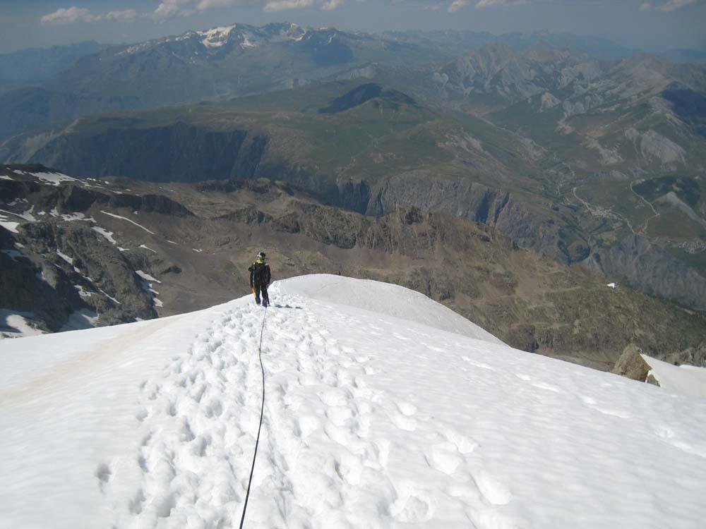 Arête NE du Râteau / partie neige et glace